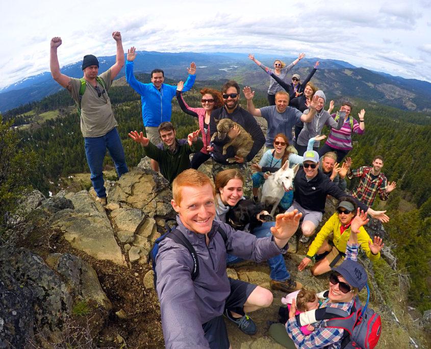 Hiking Southern Oregon Rogue Valley with Rushmore Society up at Hobart Bluff