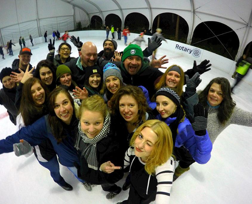 Lithia Park Ice Skating with Rushmore Society