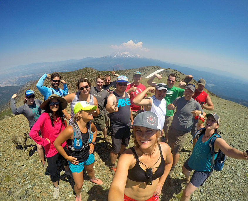 Hiking with Rushmore Society at Mt. Eddy California