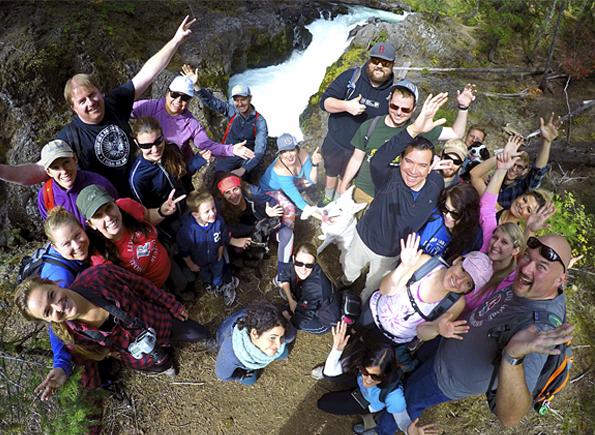 Rushmore Society Meet up hiking adventure at the Natural Bridge